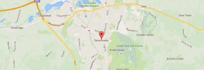 Sevenoaks Map